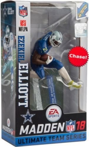 Mcfarlane Madden 18 Ultimate Team (Series 2) Ezekiel Elliott Chase Variant Color Rush Figure - Dallas Cowboys by McFarlane
