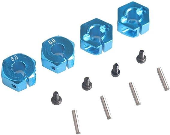 Adaptador Hexagonal de buje de Rueda de Aluminio Universal de 12 mm para HSP 1/10 Escalera RC Coche Deporte Coche Todo Terrain Patinete Grande Coche 5 5 5 5 6 7 mm Rueda: Amazon.es: Hogar