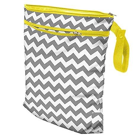 Infant Waterproof Zip Wet Dry Bag Baby Cloth Diaper Nappy Pouch Reusable New UK