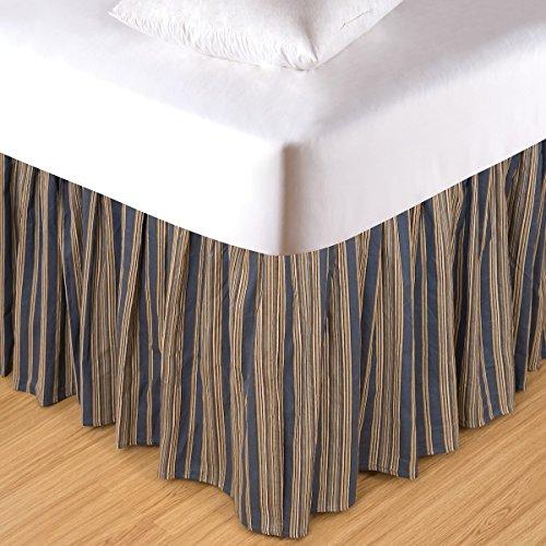 (C&F Home Twin Blue & Tan Striped Dust Ruffle )