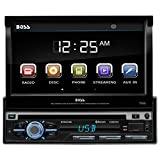 "BOSS Audio BV9979B Single-DIN 7"" Motorized Touchscreen DVD Player Receiver, Bluetooth & Remote, Black"