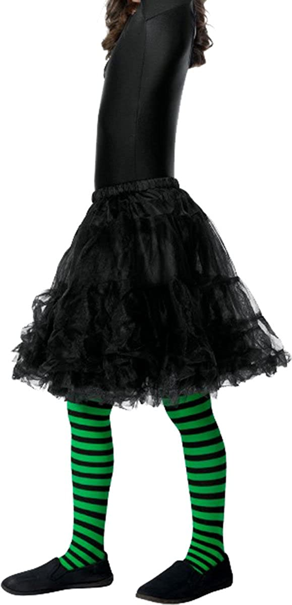 c443383e8e4a1 Amazon.com: Children's Fancy Dress Party Girl's Outfit Wicked Witch Tights  Only Pack Of 3: Clothing