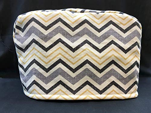 2 Slice Grey Gray Yellow Black Chevron Reversible Appliance Toaster Dust Cover Cozy 11.5(l) x 7.5(h) x 5.5(w) (Kitchenaid Cover Pattern)