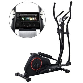 Fitness & Jogging vidaXL Crosstrainer XL 18kg Drehmasse Puls Ellipsentrainer Ergometer Fitness