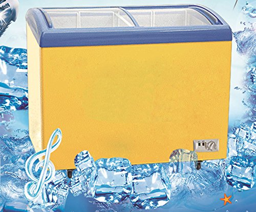 110V Commercial Glass Curve Top Ice Cream Freezer Chest 358L Containment/Commercial 2 door glass sliding top chest freezer ice cream freezer