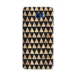 Cover It Up - Brown Black Triangle Tile Galaxy C7 Pro Hard Case