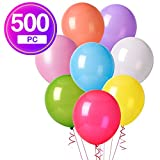 1000 baloons - MESHA 12 Inches Assorted Color Party Balloons (500 Pcs)