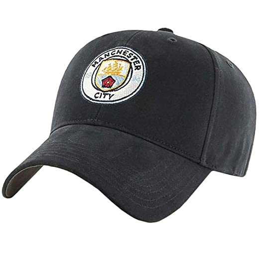 877bc8c00c3 Manchester City FC Crest Cap (One Size) (Black) at Amazon Men s ...