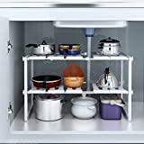 Shelf Organizer Rack Storage Under Sink 2 Tier Expandable Kitchen Tool Holders - USA_Mall