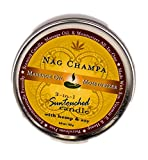 Earthly Body 3 in 1 Suntouched Body Massage Candle- Nag Champa-6oz