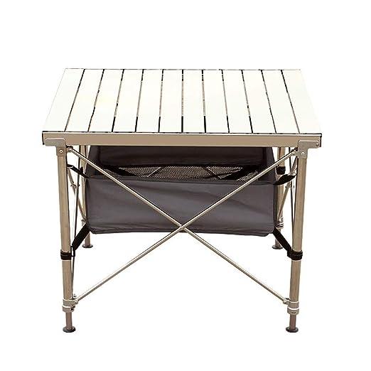 Ourdoor Mesa plegable portátil de elevación de acero inoxidable ...