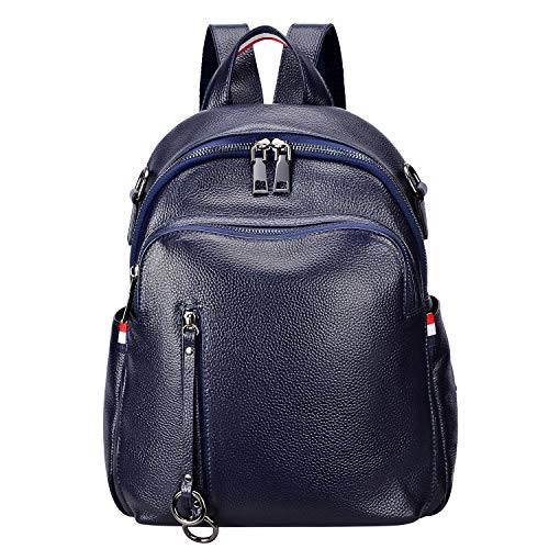 - ALTOSY Fashion Genuine Leather Backpack Purse for Women Shoulder Bag Causal Daypack (S9, Royal Blue)