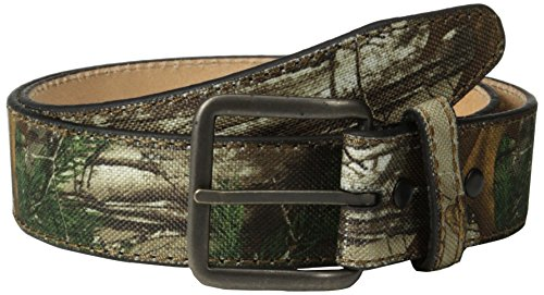RealTree Camo Men's Camouflage Belt Leather Lining, Realtree Xtra Camo, 34