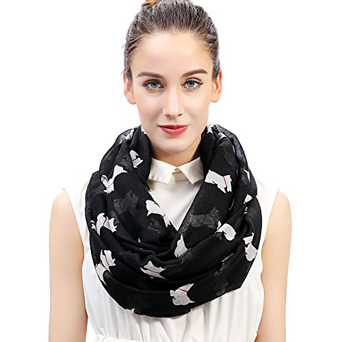 5f13410d0ff4 Lina   Lily Little Terrier Scottish Scottie Westie Dog Women s Infinity  Scarf (Large Size,