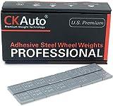 CKAuto 1/4oz, 0.25oz, Grey, Adhesive Stick on Wheel Weights, EasyPeel Type. Cars, Trucks, SUVs, Motorcycles, Low Profile, 60oz/Box, U.S. OEM Quality, (240pcs)