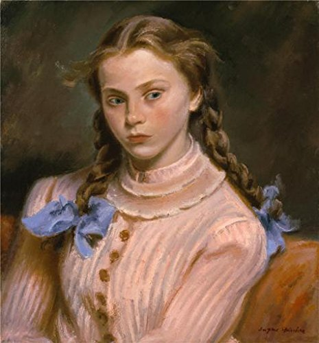 Perfect Effect Canvas  The High Quality Art Decorative Canvas Prints Of Oil Painting Eugene Edward Speicher Pigtails 1939  24X26 Inch   61X66 Cm Is Best For Garage Gallery Art And Home Decor And Gifts