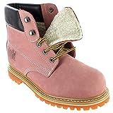 Safety Girl II Sheepskin Lined Work Boots - Light Pink