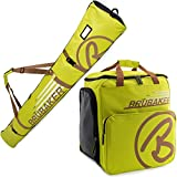 BRUBAKER Champion -Limited Edition - Ski Boot Bag and Ski Bag for 1 Pair of Ski, Poles, Boots and Helmet