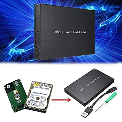Moppi USB 3.1 2,5 pulgadas SSD de disco duro HDD Externo Caso Caja ...