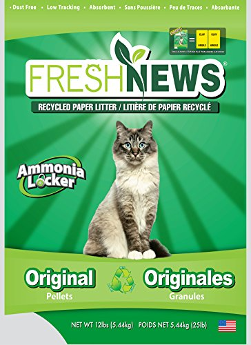 Fresh News Post Consumer Paper Pellet Cat Litter, 12-Pound