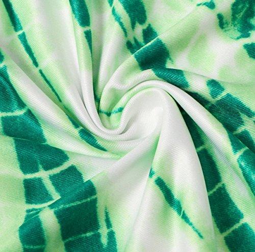 Modas Vestidos Colores Rayas Yardas Grandes El Temperamento Los Vestidos Largos Green