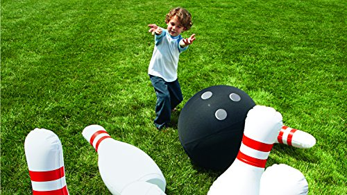 """Giant Bowling Game, Inflatable - Classic Red, White, and Black - 29""""H"""