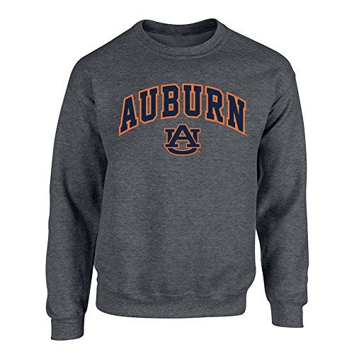 - Elite Fan Shop Auburn Tigers Crewneck Sweatshirt Arch Charcoal - XXL