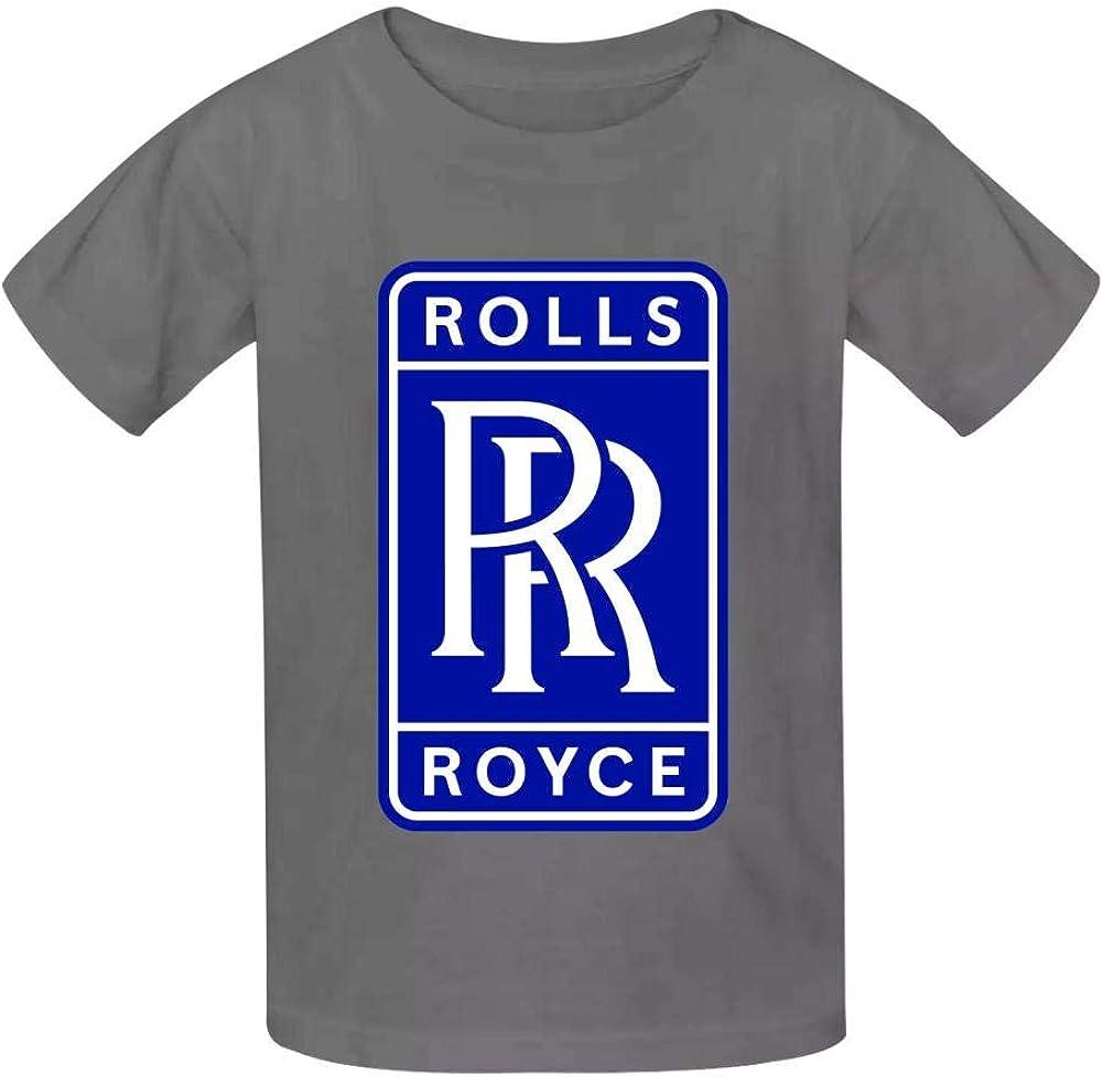 HRZGJ R-olls-R-oyce Childrens Lightweight 100/% Cotton Short-Sleeved T-Shirt
