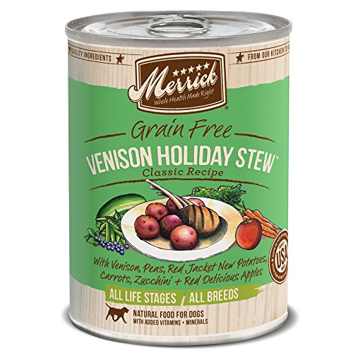 Merrick Grain-Free Venison Holiday Stew Canned Dog Food, 13.2-oz, Pack of 12