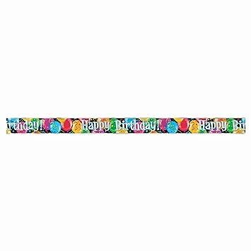 Feliz cumpleaños - pancarta papel de aluminio con motivo de ...