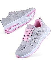 Decai dames fitness loopschoenen sportschoenen snoeren net running sneaker trainer ademende mesh veters sportief lopen fitness schoen sport loopschoenen