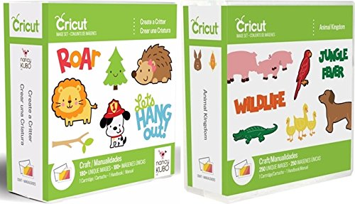 Cricut Cartridge Bundle: Animal Kingdom & Create a Critter - Cricut Cartridge Animal