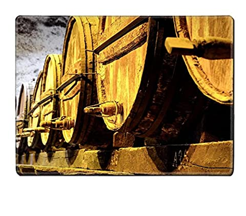 Liili Natural Rubber Placemat IMAGE ID 32520953 Details of very old wine barrels - Rioja Wine Cellar