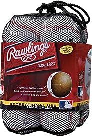 Rawlings Official League Recreational Grade Baseballs, OLB3 (Box of 3 or Bag of 12)