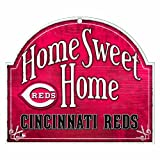 "MLB Cincinnati Reds 10-by-11 Wood ""Home Sweet Home"" Sign"