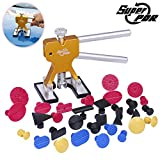 Super PDR 32Pcs Automotive Body Paintless Dent Repair Tools Kit Glue Puller Golden Dent Lifter With...