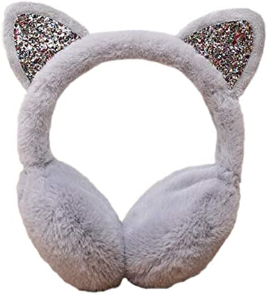 Winter Earmuff Gray Earmuffs Earwarmers Ear Muffs Earlap Warm Parts