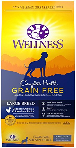 Wellness Complete Health Natural Grain Free Dry Large Breed Dog Food, Chicken, 24-Pound Bag