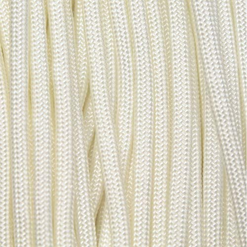 550 Paracord White Light 500 Ft Spool Made in USA 193-109