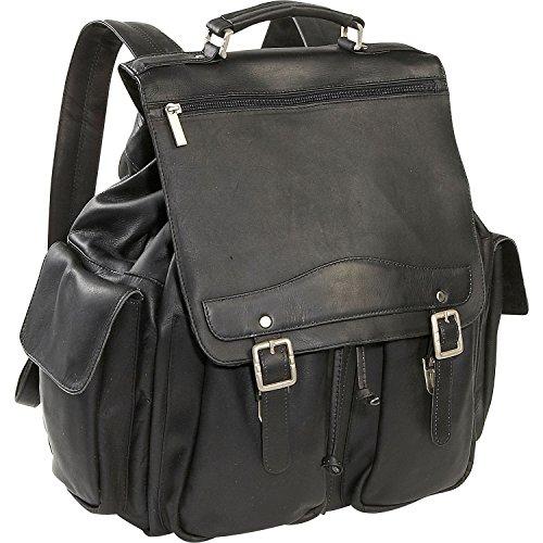 David King Leather Jumbo Backpack in Black