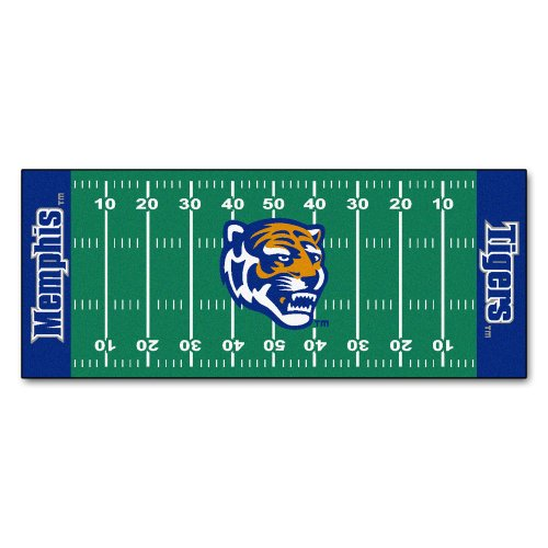 Tigers Runner Football (Fanmats NCAA University of Memphis Tigers Nylon Face Football Field Runner)