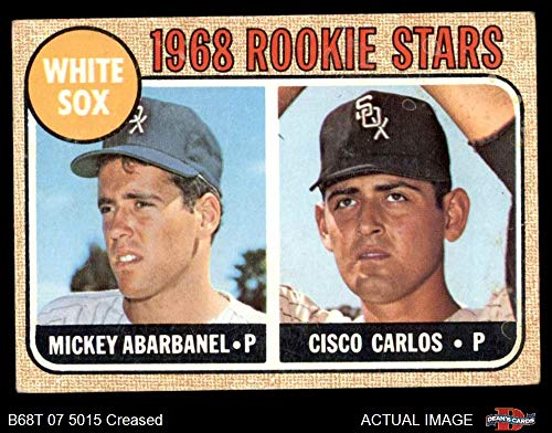 1968 Topps # 287 White Sox Rookies Mickey Abarbanel/Cisco Carlos Chicago White Sox (Baseball Card) Dean's Cards 3 - VG White Sox