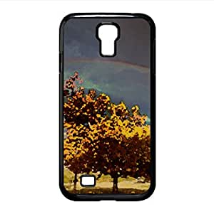 Double Rainbow Watercolor style Cover Samsung Galaxy S4 I9500 Case (Autumn Watercolor style Cover Samsung Galaxy S4 I9500 Case)