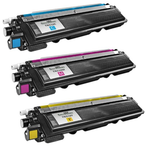 Speedy Inks - 3 pack Color Compatible Toner Cartridge Replacement for Brother TN210 1 Cyan, 1 Yellow, 1 Magenta