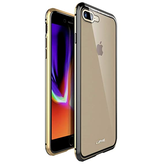 360 Full Body Protection Case For Iphone 7 Plus8 Plusfront And Back Of Touchable Tempered Glass With Built In Screen Protector Magnetic