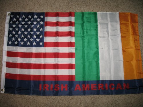 USA and Ireland Friendship Irish American Flag Polyester 3 x 5 Foot New Friend ()