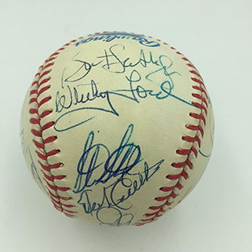 Cy Young Award Multi Signed Baseball 20 Sigs Roger Clemens Whitey Ford JSA COA