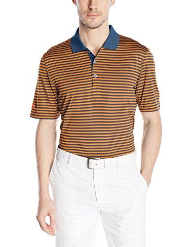 adidas Golf Mens 3-Color Stripe Polo Shirt