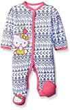Hello Kitty Baby Girls' Coveral, Grey/Pink, 0-3