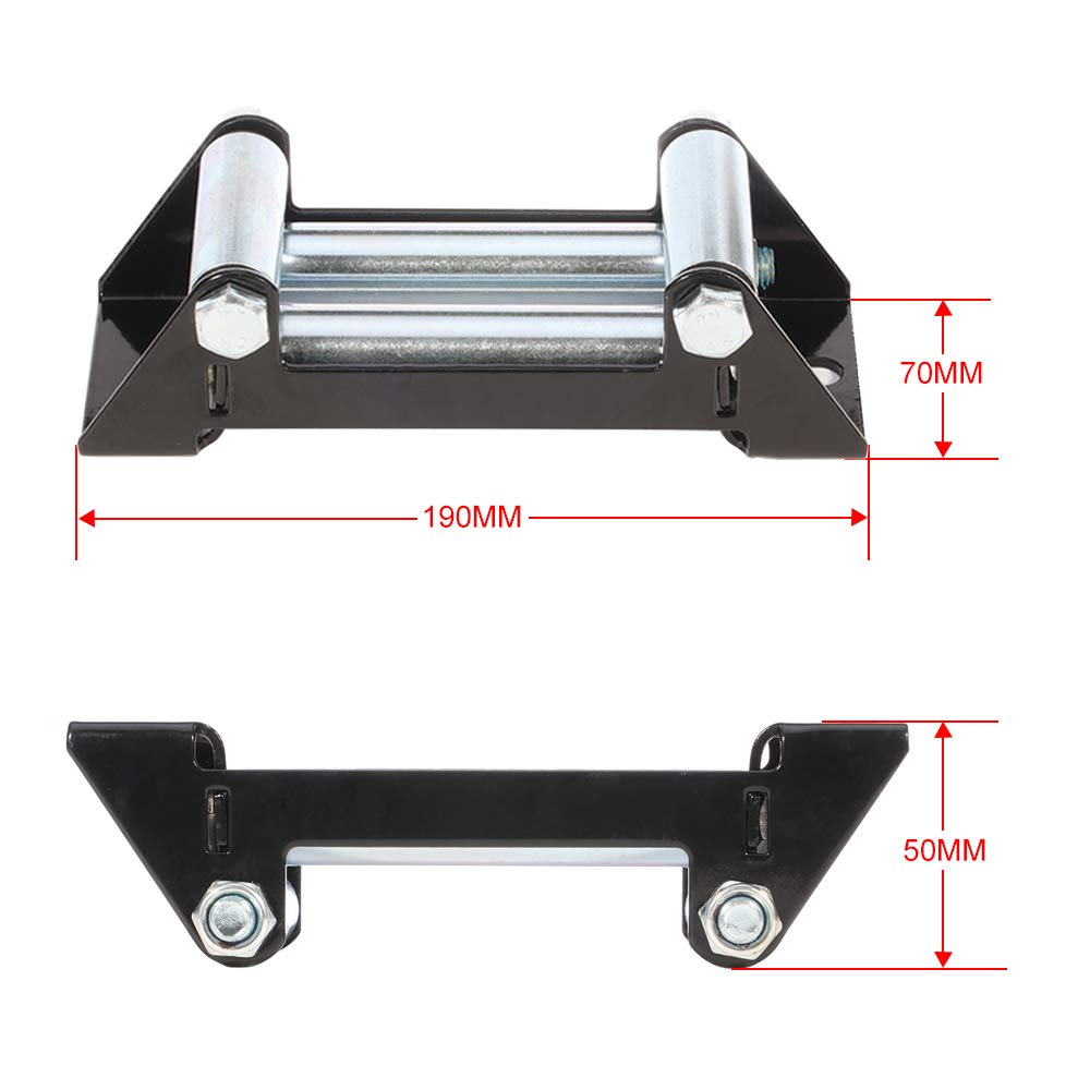 cciyu ATV Winch Roller Fairlead 4500 LBs 6 Universal 4-Way Roller Cable Guide for Trucks RVs Pickups Jeeps UTV Off-Road Vehicles